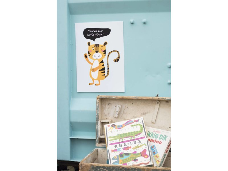 Sparkling paper poster little tiger