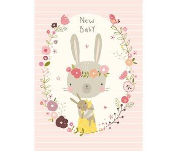 kaart New Baby Girl