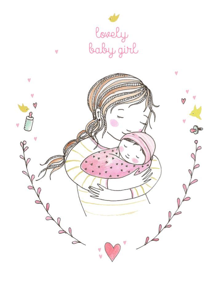 Petite Louise Kaart Lovely Baby Girl Petite louise kopen