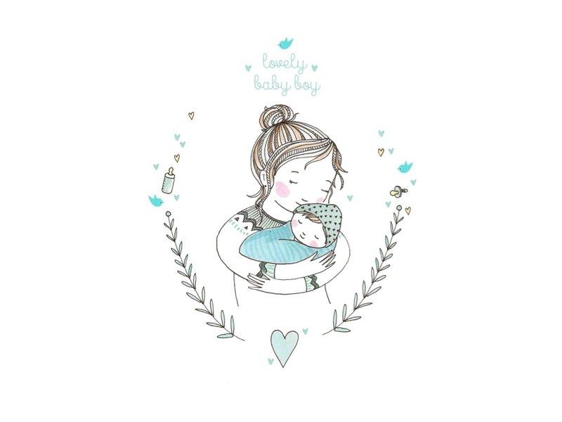 Petite Louise kaart Lovely Baby boy
