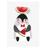 Sparkling paper kaart jummy pinguin
