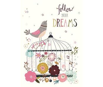 kaart follow your dreams