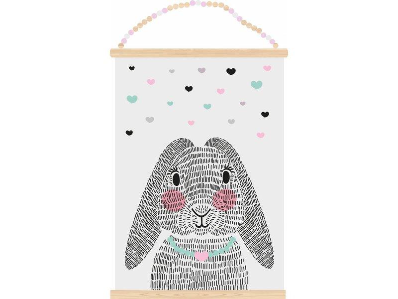 Sparkling paper poster mrs. rabbit