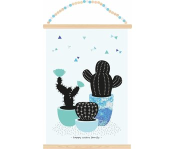 poster happy cactus family