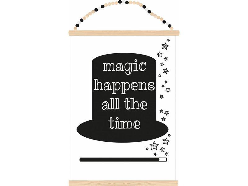 Sparkling paper poster magic happens