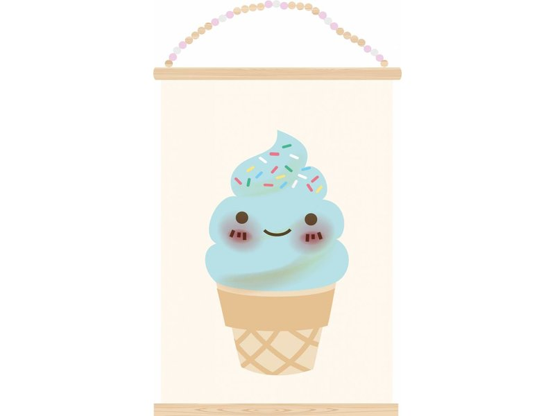 Sparkling paper poster ice cream
