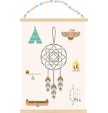 Sparkling paper poster indian dreams