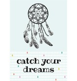 Sparkling paper kaart catch your dreams