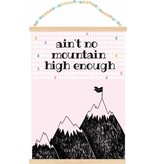 Sparkling paper poster ain't no mountain