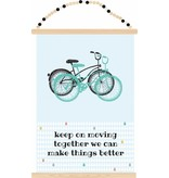Sparkling paper poster keep on moving