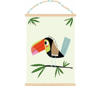 poster tropical toucan