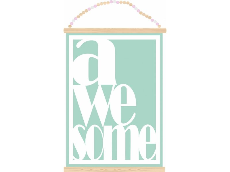 Sparkling paper poster awesome mint