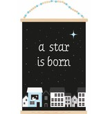 Sparkling paper poster a star is born boy