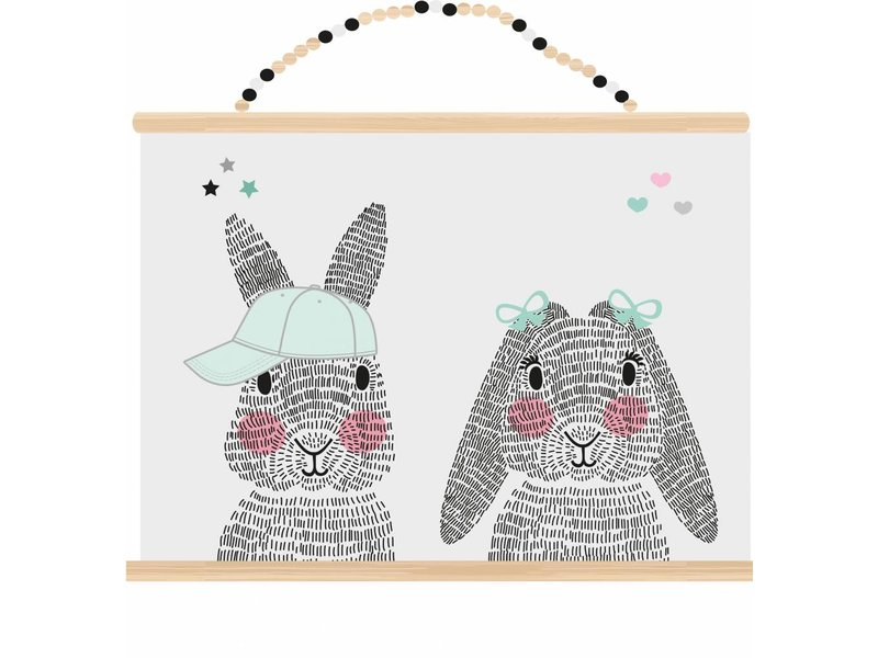 Sparkling paper poster mr. en mrs. rabbit