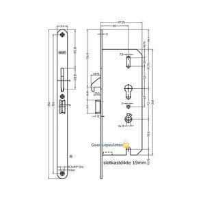 Nemef 4937 Comforte krukvrijloop slot Afgerond PC72 DM65 SKG**