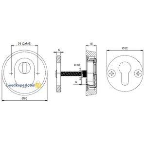 Dieckmann Den Bosch D7053 veiligheidsrozet met kerntrekbeveiliging skg***