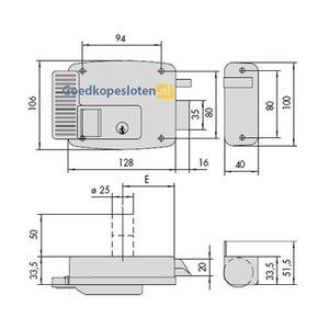 Cisa 11610 oplegslot elektronisch