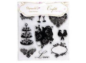 Stempel / Stamp: Transparent 20x20cm, Clear stamps - Confetti van stephanie Dyment (1piece) Ikonen.eimkino