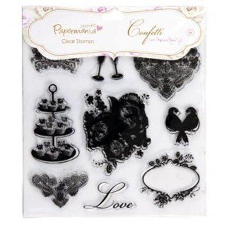 Stempel / Stamp: Transparent 20x20cm, Transparent Stempel - Konfetti van stephanie Dyment (1Stück) Ikonen.eimkino