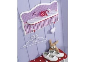 Tante Ema Cotton fabric: Happiness points, 50x65cm, 135 g/m2, tab-1piece, lilac