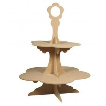 Objekten zum Dekorieren / objects for decorating MDF Etagére, 45 cm, 4- Teilig, unten ø35cm, oben ø25cm