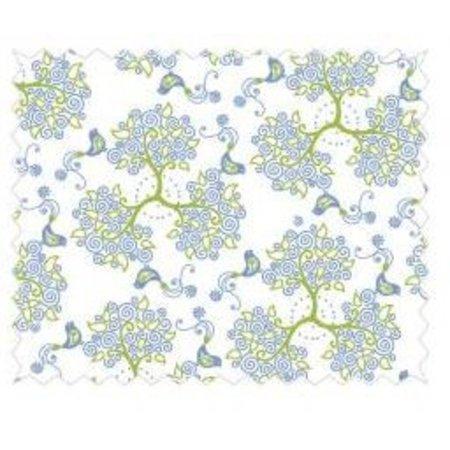 Tante Ema Bomuld Stof: fortryllede skov, 50x65cm, 1 stk, himmelblå