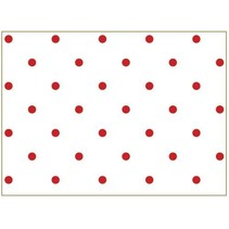 Bomuld stof: heldige punkter, 50x65cm Classic Red,