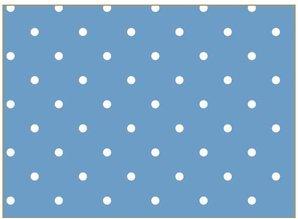 Tante Ema Bomuld stof: heldig charme, 50x65cm, 100% bomuld, himmelblå