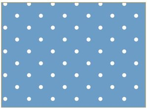 Tante Ema Cotton fabric: lucky charm, 50x65cm, 100% cotton, sky blue