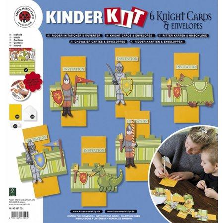 Kinder Bastelsets / Kids Craft Kits Niños set nave: 6 tarjetas y sobres