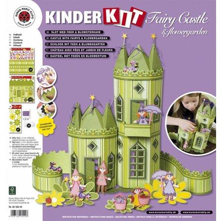 Kinder Bastelsets / Kids Craft Kits Niños oficio set: Hada Castillo con Blumengartenopy