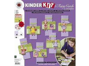 Kinder Bastelsets / Kids Craft Kits Los niños Bastelset 6 tarjetas y sobres: Fairies