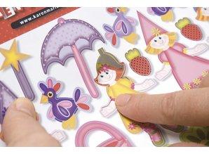 Kinder Bastelsets / Kids Craft Kits Children Bastelset 6 cards and envelopes: Fairies