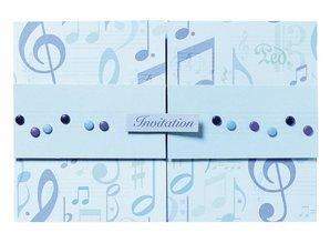 Designer Papier Scrapbooking: 30,5 x 30,5 cm Papier Álbum de recortes de papel: Blue Notes
