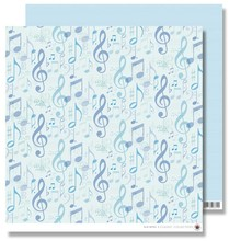 Designer Papier Scrapbooking: 30,5 x 30,5 cm Papier Scrapbooking Papir: Blå Notes