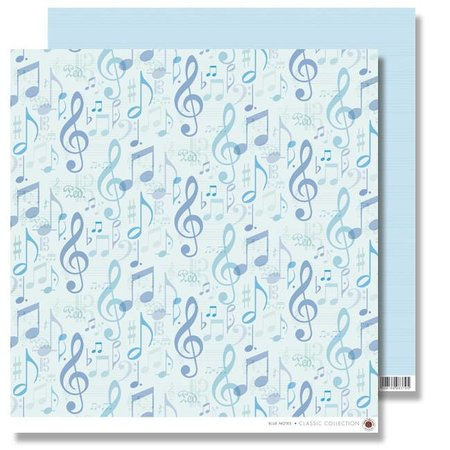 Designer Papier Scrapbooking: 30,5 x 30,5 cm Papier Álbum de recortes de papel: Blue Notes