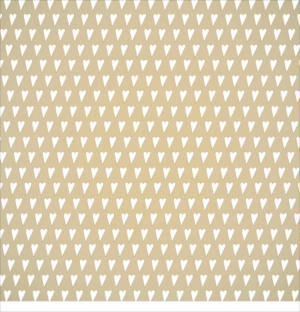 Scrapbooking paper: small gold hearts - Hobby, Crafts and ...
