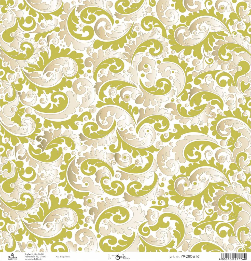 Scrapbooking Paper Gold Tendrils Hobby Crafts And Paperdesign