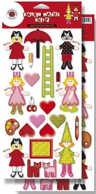 Kinder Bastelsets / Kids Craft Kits Stampings Stampa fronte retro: Marie & Friends