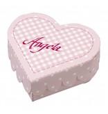 Dekoration Schachtel Gestalten / Boxe ... Herzschachteln Baby, Stanzbogen rosa