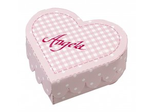 Dekoration Schachtel Gestalten / Boxe ... Heart Boxes baby pink Stanzbogen