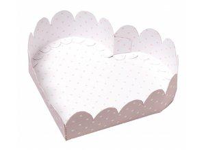 Dekoration Schachtel Gestalten / Boxe ... Heart Boxes Baby, pink die cut sheet