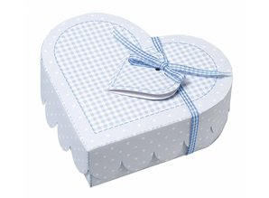 Dekoration Schachtel Gestalten / Boxe ... Baby heart boxes, punching sheet light blue