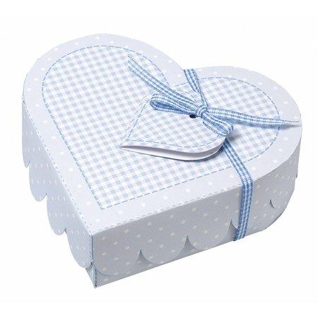 Dekoration Schachtel Gestalten / Boxe ... Cajas del bebé del corazón, hoja puñetazos azul claro