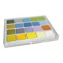 Tiza pastel, caja con 20 colores