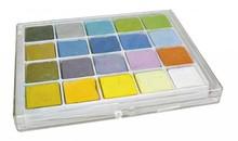 FARBE / INK / CHALKS ... Gesso pastello, confezione con 20 colori