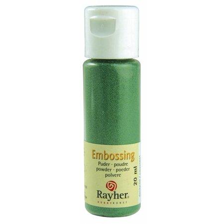 FARBE / INK / CHALKS ... Embossingspulver: siempre verde, opaco