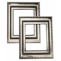 "Metal-frame ""Art Deco"", 7 x 5.5cm"