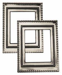 """Embellishments / Verzierungen Metal-frame """"Art Deco"""", 7 x 5.5cm"""