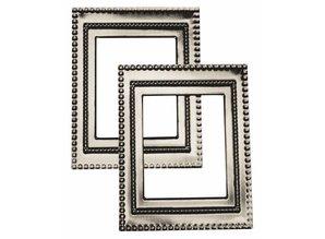"Embellishments / Verzierungen Metal-marco ""Art Deco"", 7 x 5.5cm"